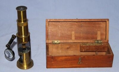 Small English Student Field Drum Microscope