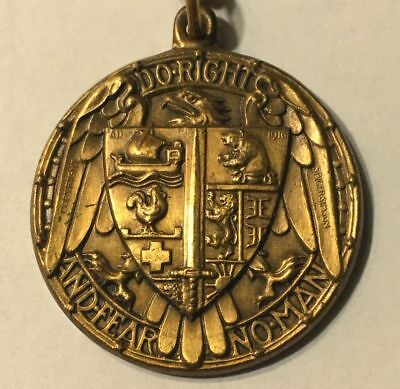 """WORLD WAR l MEDAL - DO RIGHT AND FEAR NO MAN - """"LE LYCEUM"""" of NEW YORK"""
