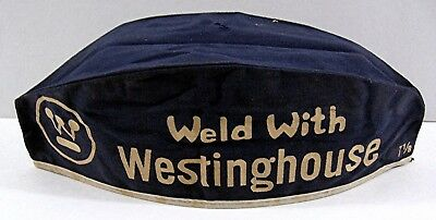 Old Weld With Westinghouse Cloth Adv Welding Hat Jims Welding Supply Holland N Y