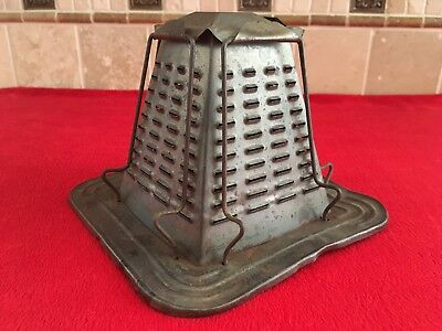 Antique Tin 4 Slice Sided Toaster Stove Top Camping