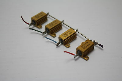 Dale RH-10 10W 5 Ohm 1% Power Resistor ( lot of 4 ) Used