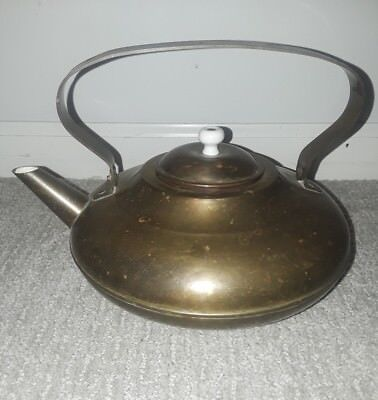 Vintage Copper Brass Teapot Tea Pot Kettle