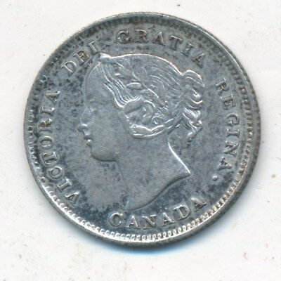 1897 Canada Silver 5 Cent Piece-Beautiful Gently Circulated Coin-Ships Free!