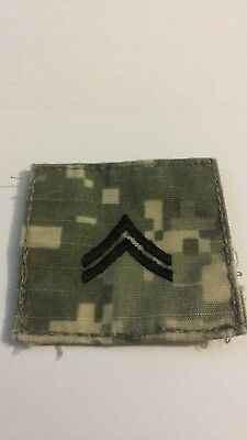 US Army ACU NO Hook Loop Rank Patch- Corporal