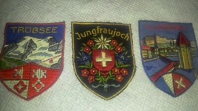 Vintage European German Related Tourist Patches