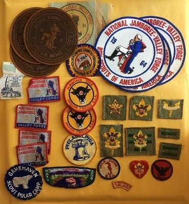 Lot of 30 mixed Vintage B.S.A Jamboree Patches Decals 1964