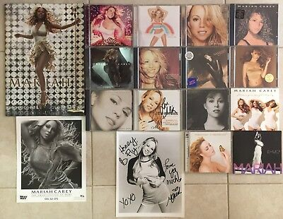 Mariah Carey 14 CD Lot with A Signed CD, Signed Photograph, and Tour Booklet!