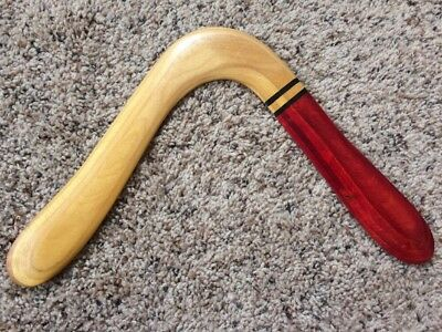 Handmade Wooden Boomerang Eagle Signed Gift Steve Wood Albuquerque New Mexico