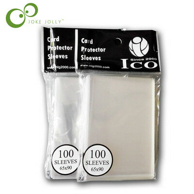 100pcs/lot 65*90mm Card Sleeves Cards Protector Barrie for magical the gathering