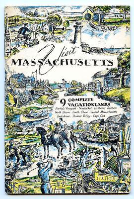 1957 Visit Massachusetts Travel Guide 9 Complete Vacationlands Martha's Vineyard