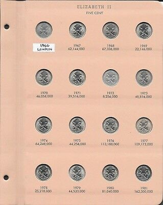 1966-2015   Australian Five Cent Coin Set - Complete With Every Date -  Uncircul