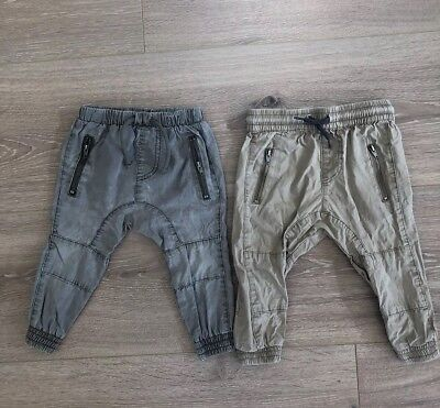 Baby Boy Cotton On Cargo Pants, Size 1, Good Used Condition X 2