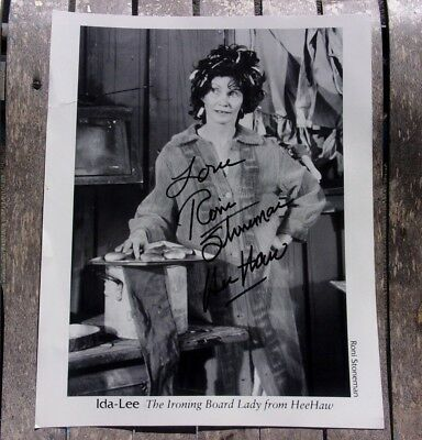 Roni Stoneman Hee Haw Signed Photo 8X10 Autographed Country Music Ida-Lee