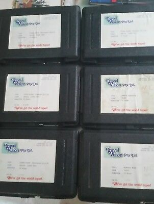 6 UMatic movie  tapes in hard cases mainly boxing 1979 melbourne 1 music