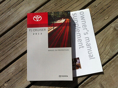 Toyota FJ CRUISER- 2010 - Owner's Manual - IN FRENCH - IN ORIGINAL POUNCH