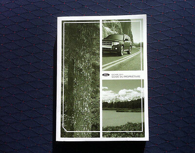 Ford ESCAPE - 2011 - Owner's Manual - IN FRENCH - XF