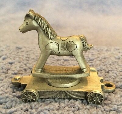 Fort Pewter- Lasting Expressions Miniature Pewter Rocking Horse Animal Train