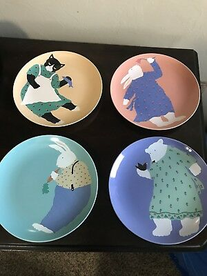 Vintage Paris Bottman Set Of 4 Collectible Plates