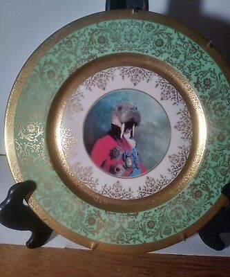 Vintage Style Walrus Plate Altered 11 inch