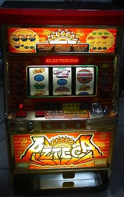 AZTECA Reel Slot Machine with Tokens and User Manual