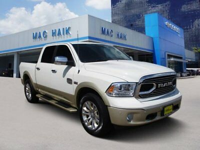 1500 Longhorn 2017 Ram 1500 Longhorn 7,094 Miles Pearl White Crew Cab Pickup Regular Unleaded
