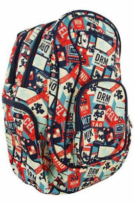 Disney Parks TAG Collection Mickey Mouse Luggage Travel Vintage Backpack Bookbag