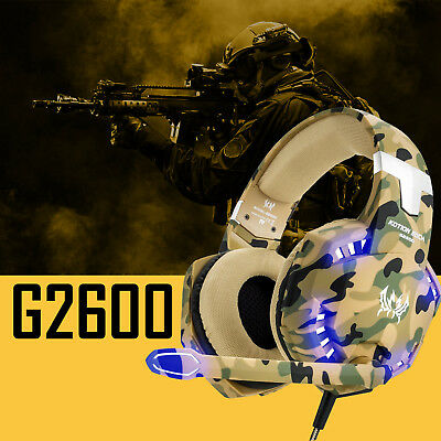 Each G2600 Gaming Headset Stereo Bass Headphone for PS4 New Xbox One PC with Mic