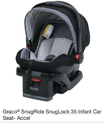 Graco Snugride Snuglock 35 Rear Facing Infant Car Seat 4-35 lb , 4426 , Accel