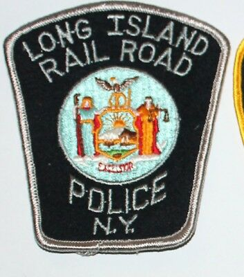 Old LONG ISLAND RAIL ROAD POLICE New York NY PD Vintage Felt patch