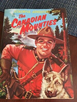 The Canadian Mounties Color Book 1959