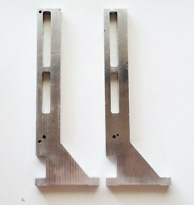 Brackets Pair X Axis Vertical Support Micro Mill Engraver Router (p 75)