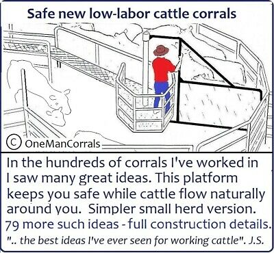The latest One-Man Corral Designs with 80 ideas to reduce costs, 120 diagrams