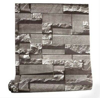 E11 Gray Textured Marble Effect Home Indoor Decoration Wallpaper Length 10M Y .