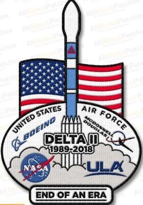 "Delta Ii End Of An Era Commemorative 6"" Patch Usaf Mcdonnell Douglas Boeing Ula"