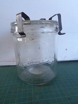Vintage FOWLERS VACOLA #30 jar with authentic lid and clips