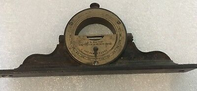 L.L. Davis Adjustable Spirit Level  c1867 Great Condition with Estate Note!