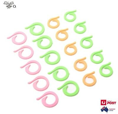 Plastic Knitting Crochet Locking Stitch Markers Latch Knitting Clips x 20Pcs