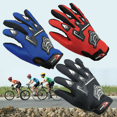 Kids Children Boys Girls Full Finger Gloves Cycling Motorcycle Bicycle Sports