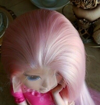AU STOCK Heat Resistant Lace Front Wig Synthetic Hair Long Silky Straight Pink
