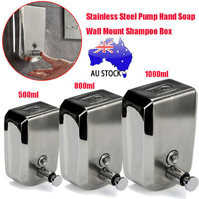 Stainless Steel Commercial Grade Polished Wall Mounted Lotion Soap Dispenser Hot