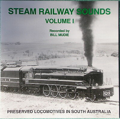 Train Sound Effects CD - Preserved Steam in South Australia - FREE POST in Aust