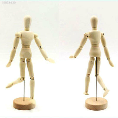 Wooden Mannequin 12Joint Doll Polish Articulated Wood Adjustable Artists Display