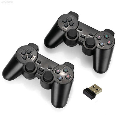 2Pcs 2.4Ghz Wireless Controller Gamepad with Dual Vibration Joysticks For PC