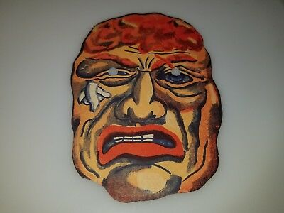 "VINTAGE 1950s 60s CARDBOARD HORROR MONSTER  MASK 5"" X 7"" CLEAN RARE!"