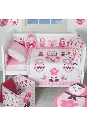 Living Textiles Complete Adele Baby Girl 10 Piece Nursery Cot Set