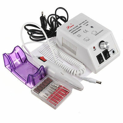 Electric Nail Drill Professional Manicure Pedicure File Acrylic Kit Bits