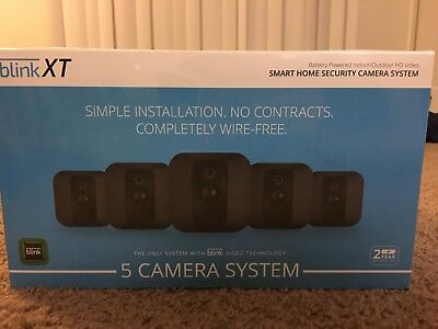 Blink XT Home Video Security 5 Camera Kit System w/ Motion Detection, Wall Mount