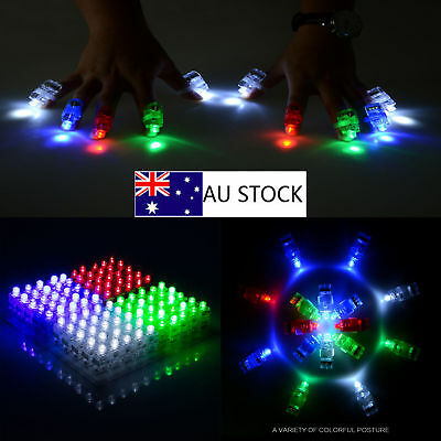 100-300pc WHOLESALE* FINGER LIGHT UP RING LASER LED RAVE PARTY FAVORS GLOW BEAMS