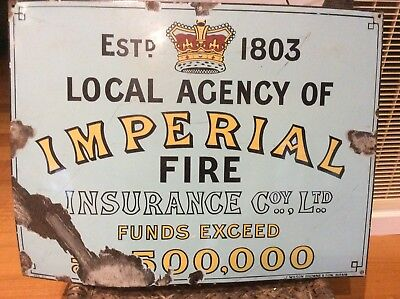 Old Imperial Insurance Enamel Sign