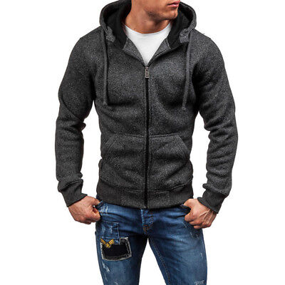 AU Hot Mens Hoodie Winter Warm Hooded Sweatshirt Jacket Outwear Sweater Jumper